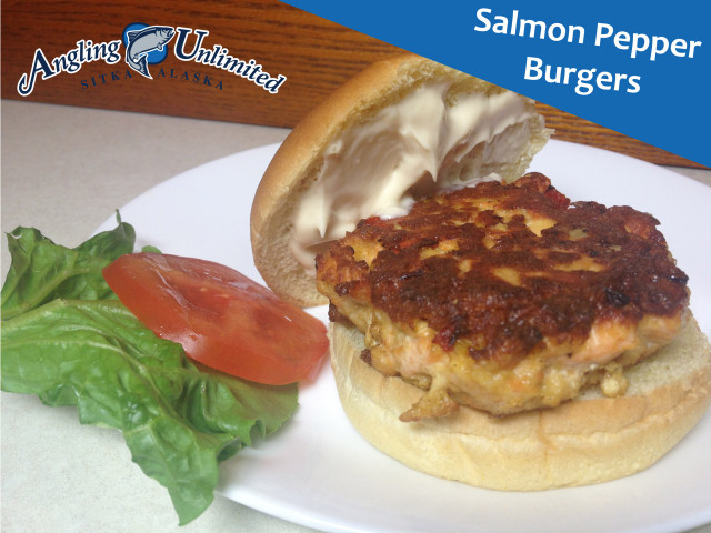 Salmon Pepper Burgers