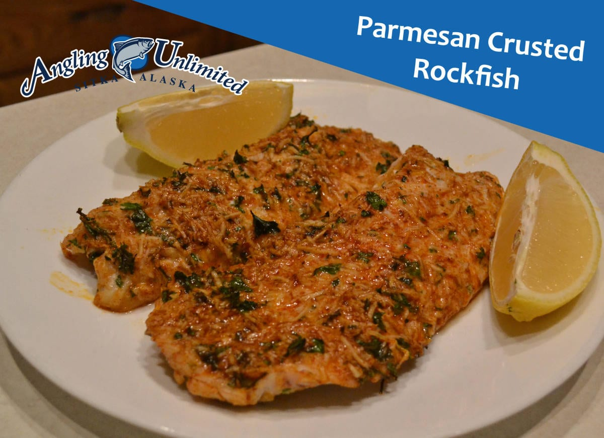 Recipe of the week parmesan crusted rockfish angling for Parmesan crusted fish